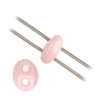 Twin 2-hole Bead 2.5x5mm Pink Dyed